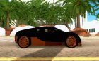 Bugatti Veyron SuperSport для GTA San Andreas вид изнутри