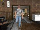 Skin HD GTA V Online парень с усиками for GTA San Andreas left view