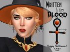 Written in Blood - Earrings Set для Sims 4 вид сверху