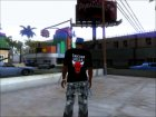Chicago Bulls Shirt Black для GTA San Andreas вид слева