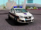 Golf V - BIH Police Car для GTA San Andreas вид слева