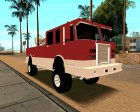 Offroad Firetruck for GTA San Andreas rear-left view