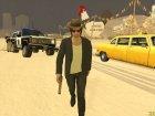 Skin GTA V Online в Ковбойской шляпе для GTA San Andreas вид сзади