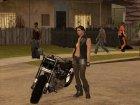 Biker Girl from GTA Online для GTA San Andreas вид сбоку