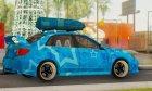 Subaru Impreza Blue Star for GTA San Andreas rear-left view