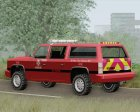 FBI Rancher - Metro Fire Battalion Chief 69 for GTA San Andreas rear-left view