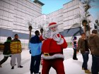 Зимние скины, одежда и оружие (By Babay) для GTA San Andreas вид слева