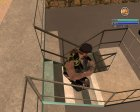 Новый байкер в камуфляжной желетке для GTA San Andreas вид сзади