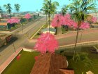 Japanese Castle CJ House and Beautiful Sakura Trees для GTA San Andreas