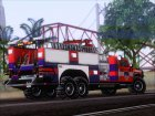 Hummer H2 Firetruck Fire Department City of Los Sanos для GTA San Andreas вид сверху