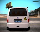 Volkswagen Transporter Сапер Украина for GTA San Andreas back view