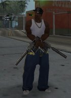 Tec-9 Chrome for GTA San Andreas left view