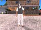 Skin HD GTA V Online 2015 в маске кота для GTA San Andreas вид сзади слева
