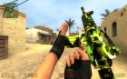 5 in 1 m4a1 camo skin for Counter-Strike Source rear-left view