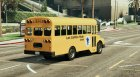 Classic school bus for GTA 5 rear-left view