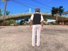 Skin HD GTA V Online 2015 в маске кота для GTA San Andreas вид справа
