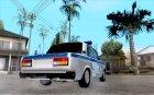 ВАЗ 2107 Полиция для GTA San Andreas вид сверху