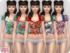 Matilde blouse RECOLOR 1 для Sims 4 вид изнутри