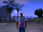 Футболка Психоделика для GTA San Andreas вид сзади слева