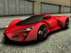 Ferrari F80 Concept for GTA San Andreas top view