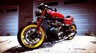 Honda CB750 Cafe Racer 2.0 for GTA 5 rear-left view