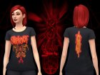 SlipKnoT TShirts for Sims 4 back view