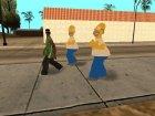 Гомер Симпсон для GTA San Andreas вид сзади слева