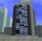 Современное здание в центре Los Santos for GTA San Andreas rear-left view