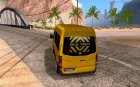 Volkswagen Crafter school bus for GTA San Andreas rear-left view