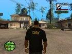 Футболка для модератора Crow для GTA San Andreas вид слева