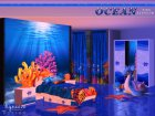 Ocean Kids Bedroom for Sims 4 rear-left view