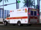 Freightliner M2 Chassis SACFD Ambulance for GTA San Andreas rear-left view