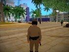 Michael De Santa - San Andreas Highway Patrol Uniform (GTA 5) для GTA San Andreas вид сзади слева
