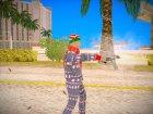 Новогодний игрок из GTA Online for GTA San Andreas left view