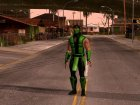 Mortal Kombat X Klassic Human Reptile for GTA San Andreas rear-left view