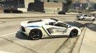 Ukrainian Police Lamborghini Aventador для GTA 5 вид слева