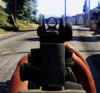 Battlefield 4 M16A4 for GTA 5 rear-left view