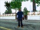 Франклин из GTA V для GTA San Andreas вид сзади слева