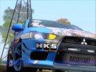 Mitsubishi Lancer Evolution X Taihou Itasha для GTA San Andreas вид справа