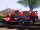 Hummer H2 Firetruck Fire Department City of Los Sanos for GTA San Andreas rear-left view