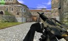 Modern Sand M4a1 for Counter-Strike 1.6 rear-left view