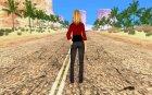 Новая девушка для Гта для GTA San Andreas вид сзади слева