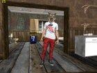 Skin HD GTA V Online парень в маске волка for GTA San Andreas side view