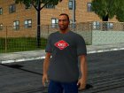 HD CJ Dark T-Shirt 2016 для GTA San Andreas вид слева