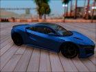 Acura NSX 2016 для GTA San Andreas вид слева