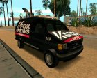 Ford E150 - Fox 11 News Van для GTA San Andreas вид сзади слева
