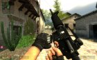 Black M4a1 W/ Chrome Mag And Socom Silencer for Counter-Strike Source rear-left view