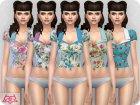 Matilde blouse RECOLOR 1 для Sims 4 вид сверху