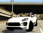 2015 Porsche Macan Turbo для GTA 5 вид сзади слева
