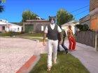Skin HD GTA V Online 2015 в маске кота for GTA San Andreas top view